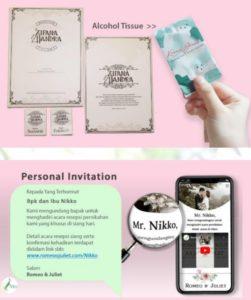 Undangan pernikahan di masa new normal (Sumber foto : Buku Panduan Indonesia Wedding Association Alliance)