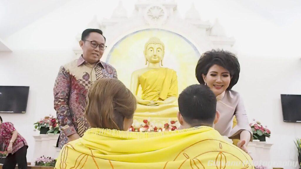 Pernikahan Agama Buddha (Foto YT @Bluemonkey. Design n Photography)