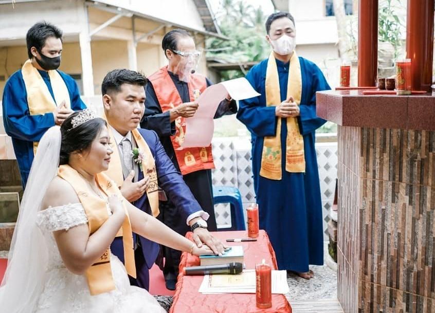 Pernikahan Konghucu (Foto: IG @adielaorganizer.bangka)